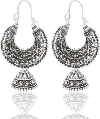 Metal Hoop With Jhumki Earrings