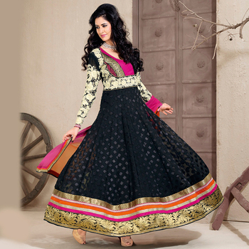 Black Anarkali Salwar Kameez Suit
