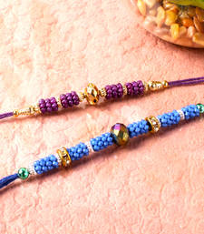 Buy Set of two threads of beads rakhi thread-rakhi online