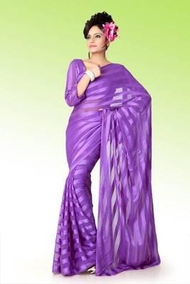 Mauve brasso saree with blouse (anj585)