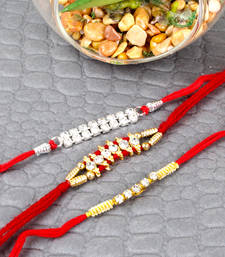Buy Diamond designer rakhi set send-rakhi-to-indium online