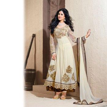 OffWhite Anarkali Salwar Kameez Suit