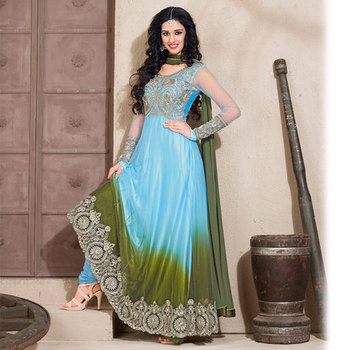 Blue Anarkali Salwar Kameez Suit