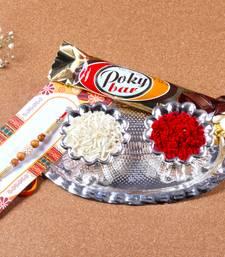 Buy Small silver rakhi thali for raksha bandhan silver-rakhi online