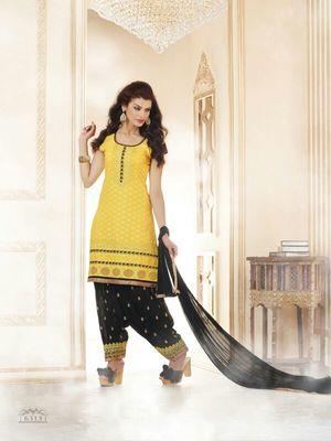 Wedding Wear Patiala Salwar Kameez (unstished)