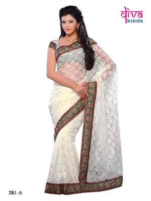 Imposing party wear fancy designer saree