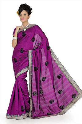 Dark magenta bhagalpuri silk saree with unstitched blouse (avn645)