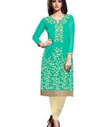 Buy Turquoise georgette semi stitched kurti kurtas-and-kurti online