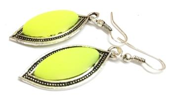 Lemon Green Casual Earrings