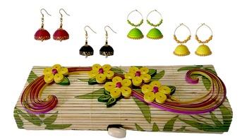 Handmade Multicolor designer danglers-drops