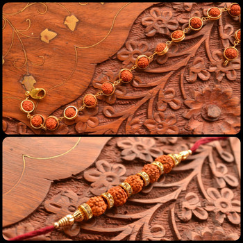 two Multicolour Beaded Rakhi