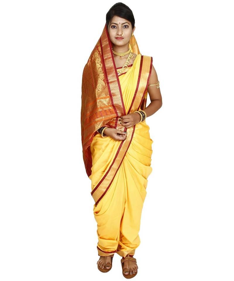 Yellow Plain Cotton Silk Nauvari Saree Kalapuri 1311499 3:57 newlife ideas 791 243 prosmotra. yellow plain cotton silk nauvari saree