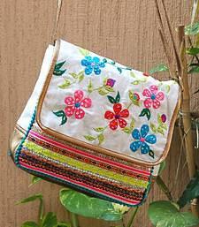 Buy White Floral Cross Body Bag sling-bag online