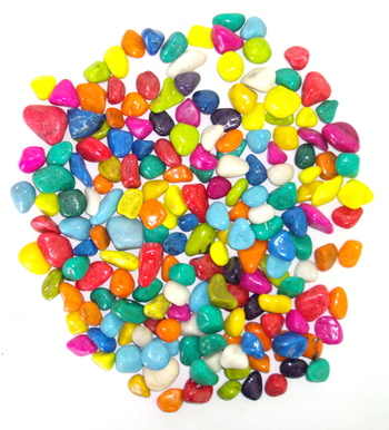 Aquarium multicolorcolor gravel stones one kg