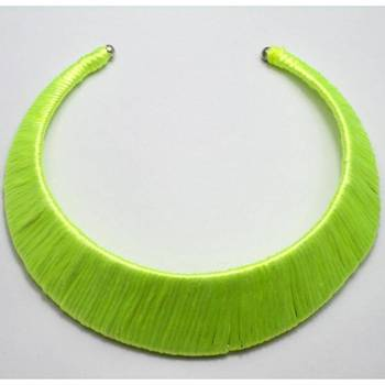 Fluorescent green choker