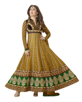 Triveni Kareena Kapoor's Magificent Emboidered Faux Georgette Anarkali Suit TSVNSK9331