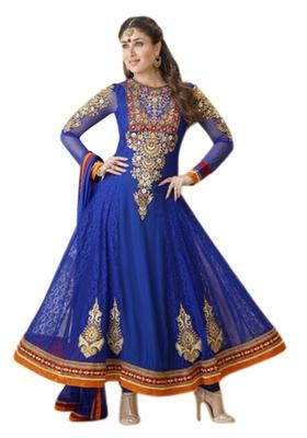 Triveni Kareena Kapoor's Magificent Emboidered Faux Georgette Anarkali Suit TSVNSK9335