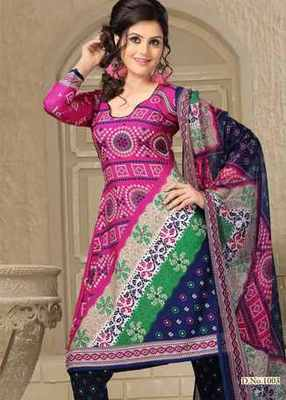 Triveni Smart Casual Printed Cotton Salwar Kameez TSSTSK1003