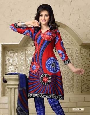Triveni Classy Casual Printed Cotton Salwar Kameez TSSTSK1015