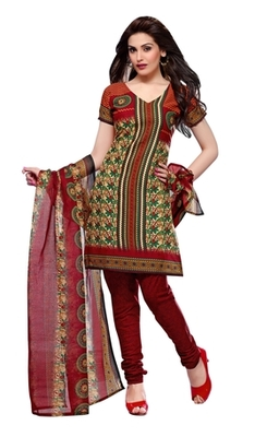 Triveni Smart Casual Printed Cotton Salwar Kameez TSSTSK2016