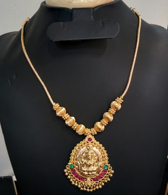Georgeous High Gold Plated Kundans Laxmi Necklace Set