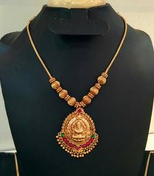 Georgeous gold plated laxmi necklace set