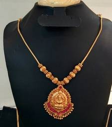 Buy Georgeous gold plated laxmi necklace set women-ethnic-wear online