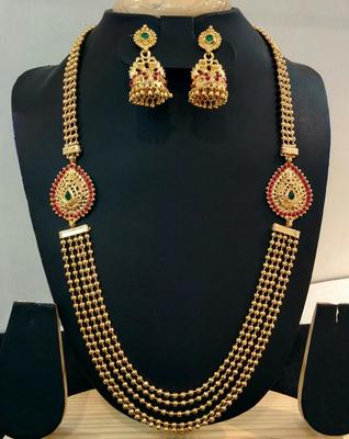 Georgeous High Gold Plated Multilayer Steps Necklace Set