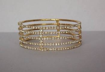 Contemporary Style Five Layers Bangle with Diamonds