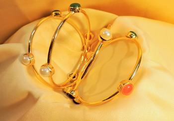 royal polki gold plated set  of 4 bangles