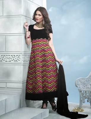 Anarkali  Salwar Kameez Black