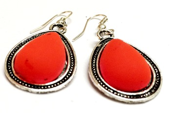 Craftstages Orange Casual Earrings