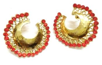 Craftstages Trendy Look Earrings Red