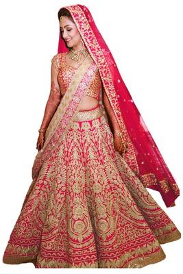 b353c966d7 Pink raw silk embroidered semi stitched lehenga choli - Rozy Fashion -  1317347