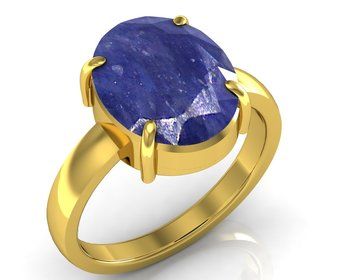 Neelam 7.5 Cts Or 8.25 Ratti Blue Sapphire Ring
