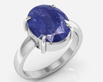 Neelam 4.8 Cts Or 5.25 Ratti Blue Sapphire Ring