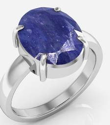 Neelam 3.0 cts or 3.25 ratti Blue Sapphire Ring