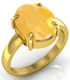 Pukhraj 7.5 Cts Or 8.25 Ratti Yellow Sapphire Ring