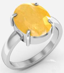 Pukhraj 6.5 Cts Or 7.25 Ratti Yellow Sapphire Ring