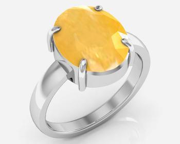 Pukhraj 3.9 Cts Or 4.25 Ratti Yellow Sapphire Ring