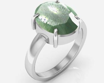 Panna 7.5 Cts Or 8.25 Ratti Green Emerald Ring