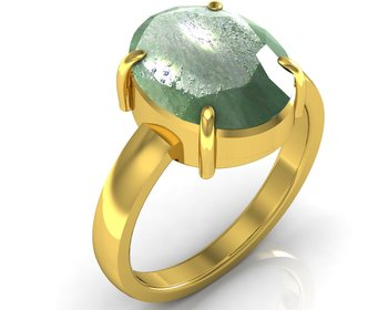 Panna 6.5 Cts Or 7.25 Ratti Green Emerald Ring