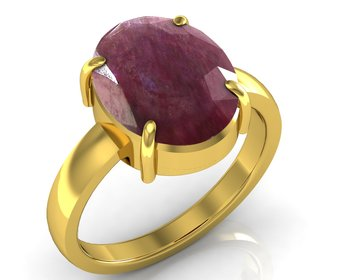 Manek 7.5 Cts Or 8.25 Ratti  Ruby Ring