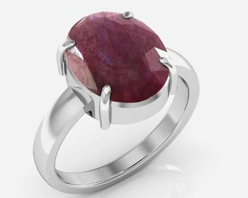 Manek 6.5 Cts Or 7.25 Ratti  Ruby Ring