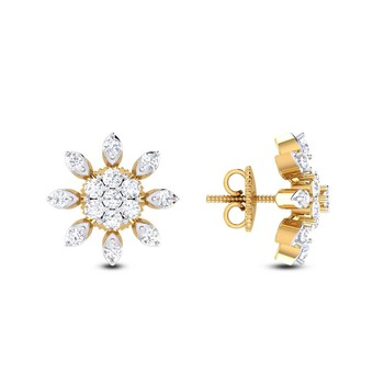 Cubic Zirconia Sterling Silver Nupoor Earring