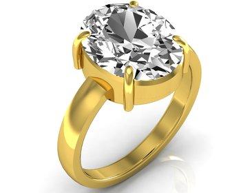 Zircon 6.5 Cts Or 7.25 Ratti Zircon Ring
