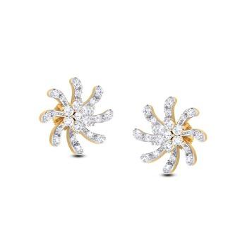 Cubic Zirconia Sterling Silver Aarohi Earring