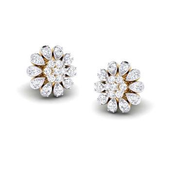 Cubic Zirconia Sterling Silver Sakshi Earring