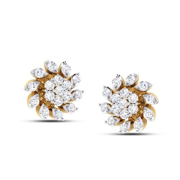 Cubic Zirconia Sterling Silver Manisha Earring