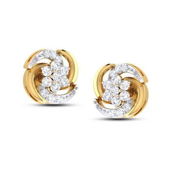 Cubic Zirconia Sterling Silver Yogita Earring